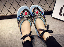 Load image into Gallery viewer, Bohemian Slipper Jewelry Vintage National Clip Toe Shoes