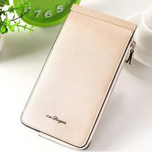 Load image into Gallery viewer, Women Microfiber Leather Multi-Card Slots Wallet Card Holders Phone Bag