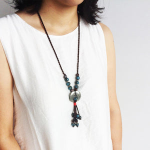 Ethnic Style Autumn Sweater Chain Fish Necklace