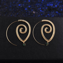 Load image into Gallery viewer, Exaggerated Retro Style Boho Hippy Spiral Earrings