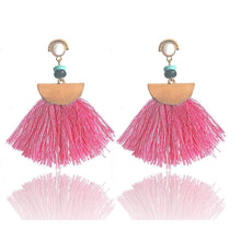 Load image into Gallery viewer, Bohemia trend fashion rope tassel earring vintage design party Xmas
