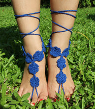 Load image into Gallery viewer, Handmade cotton thread flower anklet bracelet - 4