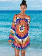 Load image into Gallery viewer, Colorful Knit Swimwear Beach Bikini Cover Up