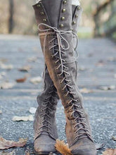 Load image into Gallery viewer, 2018 Winter Rivet Bandage Thigh-high Boots Shoes