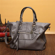 Load image into Gallery viewer, Women Genuine Leather Stylish Zipper Handbag Shoulder Bags Crossbody Bags
