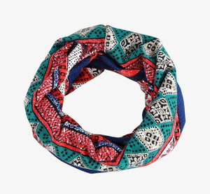 Baggy Slouchy Four Seasons Cotton Geometric Pattern Adult Hat Infinity Scarf
