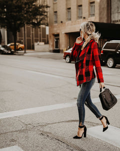 Fashion Plaid Long Sleeve Autumn Tops