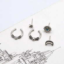 Load image into Gallery viewer, Vintage C-shaped Ear Clips Moon Love 7-piece Earrings Set