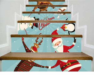 Christmas new home decoration 3D self-adhesive removable wall stickers