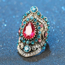 Load image into Gallery viewer, Retro Bohemia Ruby Gemstone Ring