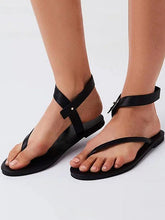 Load image into Gallery viewer, Black Low-heel Sandals Shoes For Women