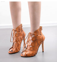 Load image into Gallery viewer, High Heel Hollow Women Large Size Sandals