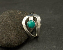 Load image into Gallery viewer, Natural Gemstone Turquoise Bride Wedding Engagement Rings Fine Jewelry