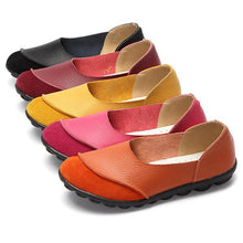 Load image into Gallery viewer, Big Size Color Match Soft Comfy Ballet Pattern Casual Flat Shoes