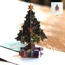 Load image into Gallery viewer, 3pcs/lot 3D Pop Up Merry Christmas Paper Cards Gift Handmade Colourful Christmas Tree Greeting Cards