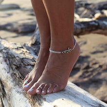 Load image into Gallery viewer, Retro style starfish runes Om yoga pendant anklet