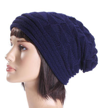 Load image into Gallery viewer, Men and women autumn and winter pleated cuffed hooded outdoor ski wool cap