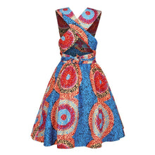 Load image into Gallery viewer, African Print Sleeveless High Waist Mini Dress