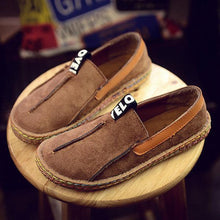 Load image into Gallery viewer, Suede Pure Color Slip On Stitching Flat Soft Shoes For Women
