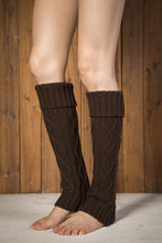 Load image into Gallery viewer, Boot cuff thick short-sleeved thick thick bamboo knit wool yarn socks - 9