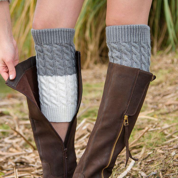Boot cuff thick short-sleeved thick thick bamboo knit wool yarn socks - 5