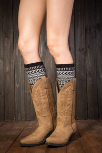 Boot cuff thick short-sleeved thick thick bamboo knit wool yarn socks - 4