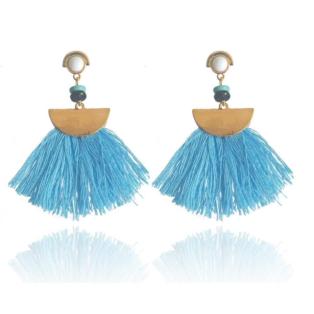 Bohemia trend fashion rope tassel earring vintage design party Xmas