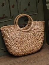 Load image into Gallery viewer, Straw Simple Casual Beach Travel Vacation Handbag