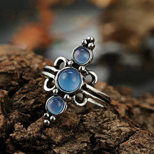 Load image into Gallery viewer, 6 Pcs Set Sun Hollow Crown Opal Flower Ring  Suit Accessories