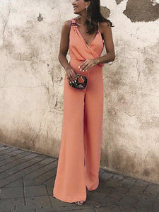 Asymmetrical Fashion Light Popular Color Jumpsuit