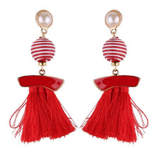 Load image into Gallery viewer, New arrival selectable silk tassel metal beads cap charm for bohemia style Xmas party