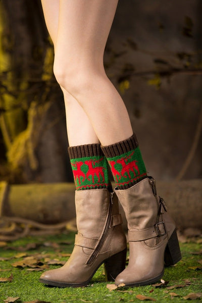 Boot cuff thick short-sleeved thick thick bamboo knit wool yarn socks - 10