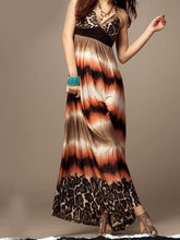 Load image into Gallery viewer, Sexy Print Halter Bohemia Beach Maxi Dress