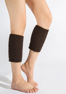 Autumn and winter knitted warm leg boots boot wool leggings rhombus line socks