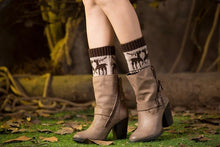 Load image into Gallery viewer, Boot cuff thick short-sleeved thick thick bamboo knit wool yarn socks - 10