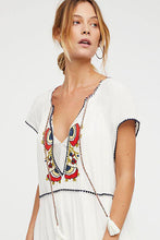 Load image into Gallery viewer, Summer Embroidered Holiday V-neck Protective Cover-up