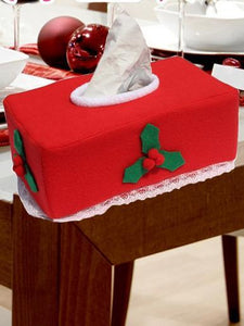 Christmas Decorations Tissue Box Coverf