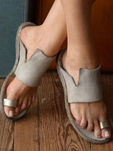 Casual Rome Open-toe Beach Flat Sandals