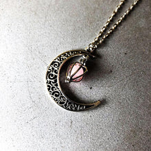 Load image into Gallery viewer, Halloween Hollow Moon Luminous Pendant Necklace