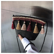 Load image into Gallery viewer, National Style Weave Tassel Chain Shoulder Handbag