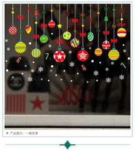 Load image into Gallery viewer, 2019 new Santa Claus pendant shop window glass door decorative wall stickers