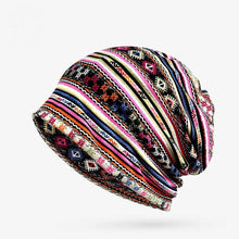 Load image into Gallery viewer, Casual Baggy Slouchy Four Seasons Cotton Geometric Pattern Adult Hat Infinity Scarf