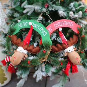 Christmas Household Items Rattan Ring Garland