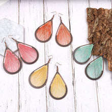 Load image into Gallery viewer, Bohemian folk style handmade silk earrings exaggerated personality drop earrings