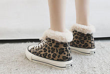 Load image into Gallery viewer, Winter High-Top Leopard Print Wild Warm Snow Boots