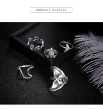 Load image into Gallery viewer, Bohemian Accessories Geometric Turtle Fishtail 5 Piece Sets Ring