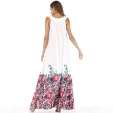Load image into Gallery viewer, Floral Printed Halterneck Big Hem Maxi Dress