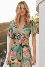 Load image into Gallery viewer, Floral Sexy V-neck Holiday Beach Wrap Blouse And Pants