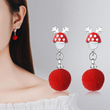 Load image into Gallery viewer, Autumn and winter earrings earrings earrings gift bells snowflakes Christmas