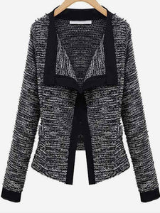 Women Slim Fit Blazer Jacket Patchwork Small Suit Casual Long Sleeve Cardigan Work Outwear Coat